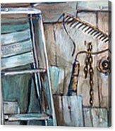 Rusty Tools Acrylic Print by Jean Groberg