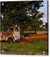 Rusty Truck And Tank Acrylic Print by Douglas Barnett