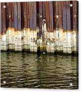 Rusty Wall By The River Acrylic Print