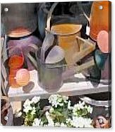 Rusty Watering Cans Acrylic Print