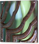 Rusty Windchimes Acrylic Print