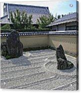 Ryogen-in Raked Gravel Garden - Kyoto Japan Acrylic Print
