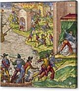 Sack Of Cartagena, C1544 Acrylic Print by Granger