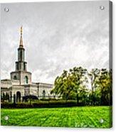 Sacramento Temple Landscape Acrylic Print