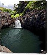 Sacred Pool And Waterfall Acrylic Print