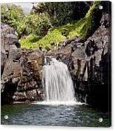 Sacred Pool Waterfall Acrylic Print