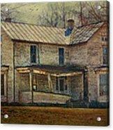Saggy Porch Acrylic Print by Kathy Jennings