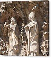 Sagrada Familia Nativity Facade Detail Acrylic Print