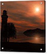 Sail At Dusk Acrylic Print