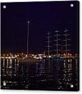 Sailboat And Maltese Hawk Acrylic Print