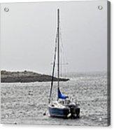 Sailboat In Maine Fog Acrylic Print