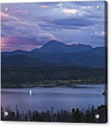 Sailboat On Lake Dillon Below A Clearing Storm, Colorado, Usa, August 2010 Acrylic Print by Timothy Faust
