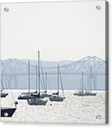 Sailboats And The Tappan Zee Bridge Acrylic Print