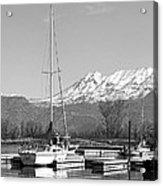Sailboats At Utah Lake State Park Acrylic Print by Tracie Kaska