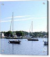 Sailboats In Bay Acrylic Print