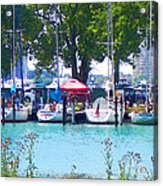 Sailboats In Dock Acrylic Print