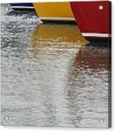 Sailboats In Primary Colors Acrylic Print by Julie Bostian