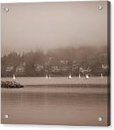 Sailboats In Victoria, British Columbia Acrylic Print