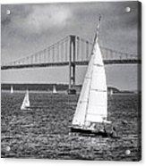 Sailboats Near Bridge Acrylic Print
