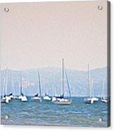 Sailboats On The Hudson - Nyack New York Acrylic Print