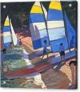 Sailboats South Of France Acrylic Print