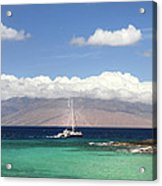 Sailing And Diving Maui Acrylic Print