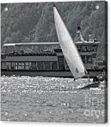 Sailing Boat And Passenger Boat Acrylic Print