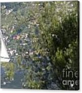 Sailing Boat And Trees Acrylic Print