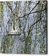 Sailing Boat Behind Tree Branches Acrylic Print