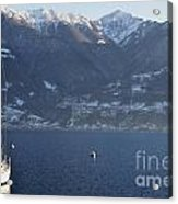 Sailing Boat On A Lake Acrylic Print
