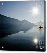 Sailing Boat On The Lake Acrylic Print