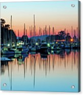 Sailing Boats In Coal Harbour Acrylic Print