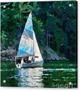 Sailing Cave Run Lake Acrylic Print