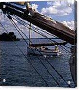 Sailing Coastal Maine Acrylic Print