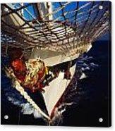 Sailing, Figurehead On The Prow Of A Acrylic Print