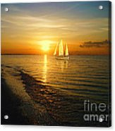 Sailing Acrylic Print by Jeff Breiman