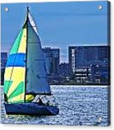 Sailing On Boston Harbor Acrylic Print