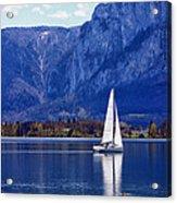 Sailing On Mondsee Lake Acrylic Print by Lauri Novak