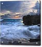 Sailing On The Silk Blue Sea Acrylic Print