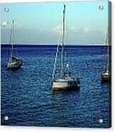 Sailing The Blue Waters Of Greece Acrylic Print