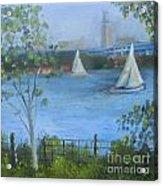 Sailing The Delaware Acrylic Print