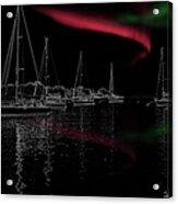 Sailing Under Strange Lights Acrylic Print