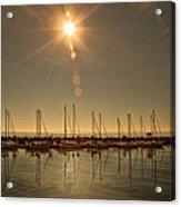 Sailing Under The Sun White Rock Bc Acrylic Print
