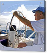 Sailing With Capt. Tom Acrylic Print