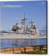 Sailors Aboard The Guided-missile Acrylic Print