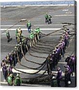 Sailors Participate In A Barricade Acrylic Print