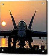 Sailors Prepare An Fa-18c Hornet Acrylic Print