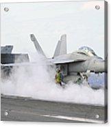 Sailors Prepare An Fa-18f Super Hornet Acrylic Print