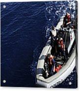 Sailors Stand Watch On A Rigid-hull Acrylic Print