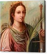 Saint Catherine Of Alexandria Painting Acrylic Print